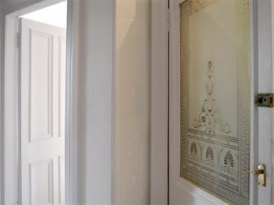 Reproduction of a decorative Victorian etched glass door panel for this Queens Park home Glasgow. & Etched Glass - Stained Glass Glasgow Scotland