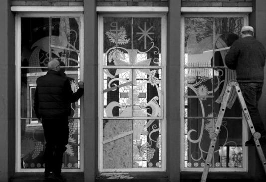 Etched Glass Stained Glass Glasgow Scotland